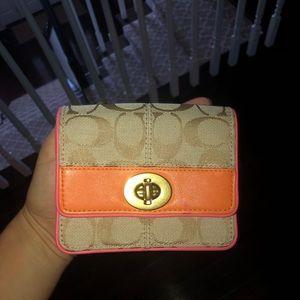 coach mini drawstring purse